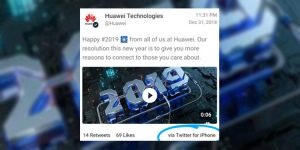 Huawei Sosyal Medya Ekibi iPhone'la Tweet Attı!